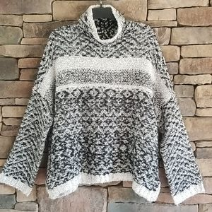 Anthropologie Gray and Black sweater